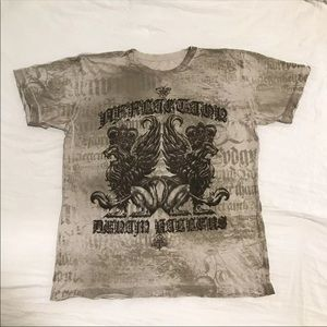 Affliction Los Angeles Lion Distressed Wings AF28